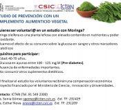 Buscamos voluntarios para un estudio de prevención de diabetes con Moringa Oleifera