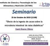 """Seminars """"Efecto de la ingesta de cacao sobre la microbiota intestinal de ratas diabéticas"""""""