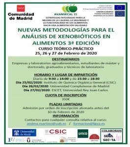 Nuevas metodologías para el análisis de xenobióticos en alimentos
