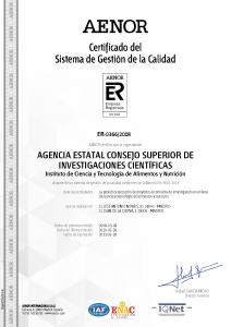 Certificado Aenor ICTAN
